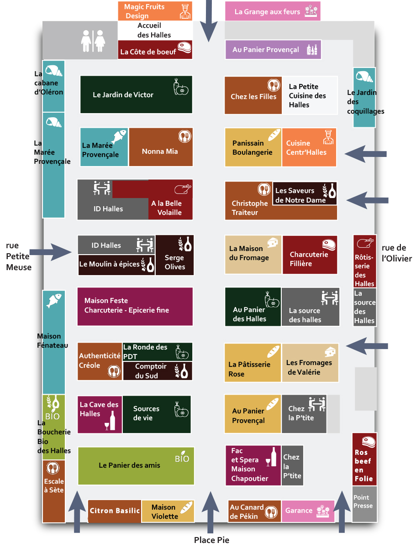 plan des Halles